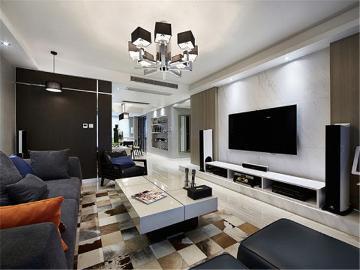 130平米混搭时尚家居设计
