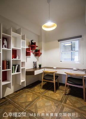 现代 新古典 三居 收纳 简约 书房图片来自幸福空间在得冠日光 共舞自然的分享