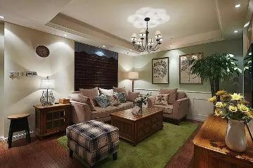 128㎡温馨复古三居室