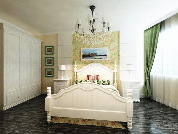 使人在卧室空间有种回归自然,舒服、舒适的休息空间,使得身心放松,也满足了人的生活乐趣。