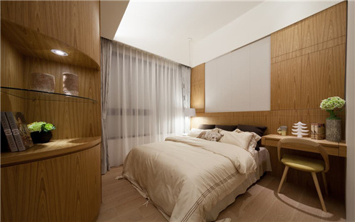 二居 混搭 80后 小资 卧室图片来自武汉全有装饰在星海虹城138平混搭风-11万打造的分享