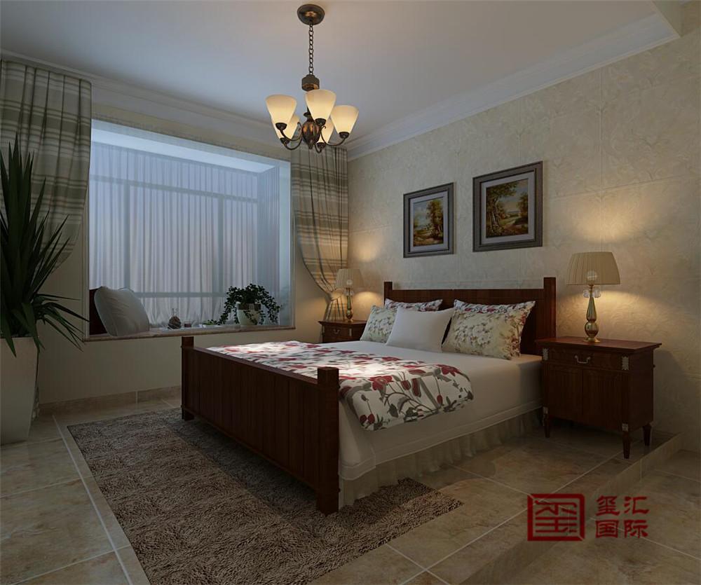 美式 三居 玺汇国际 收纳 卧室图片来自河北玺汇国际装饰公司在盛邦大都会139平美式的分享