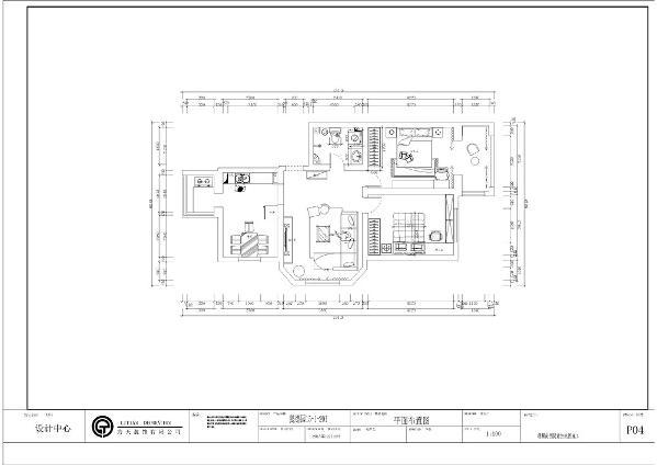 本案户型为懿德园两室两厅一卫一厨 94㎡。