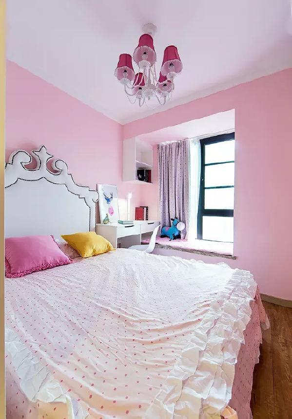 粉色代表每个女孩心中的梦,这样的儿童房让梦幻与真实并存着,家有小公举一定要  这么装!