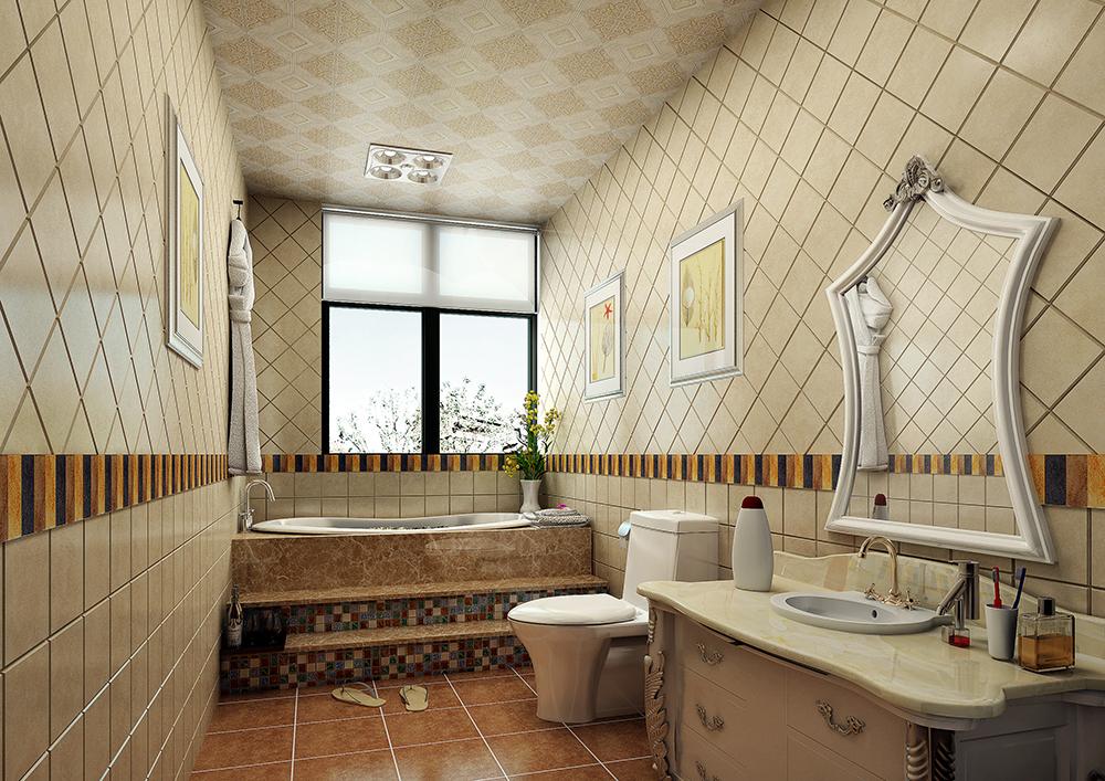 美式 温馨 时尚 80后 卫生间图片来自武汉一号家居网装修在长江紫都美式风格实景图案例的分享