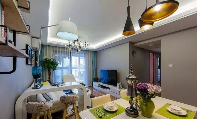 简约 三居 旧房改造 餐厅图片来自实创装饰上海公司在100㎡现代简约风三居室的分享