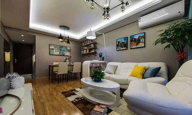 简约 三居 旧房改造 客厅图片来自实创装饰上海公司在100㎡现代简约风三居室的分享