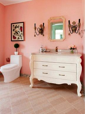 法式 糖果色 浪漫 唯美 小清新 别墅 卫生间图片来自tjsczs88在浪漫甜美糖果色,清新法式唯美风的分享