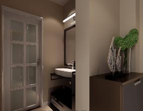 现代 三居 白领 温馨 卫生间图片来自武汉一号家居网装修在保利中央公馆现代简约风格案例的分享