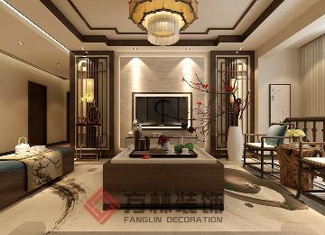 中海城提香140平中式风格