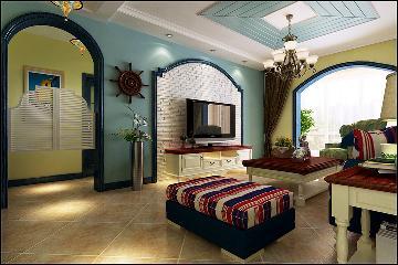 三居室地中海装修案例--152平米