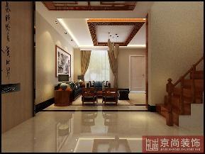 中式 小资 白领 楼梯图片来自天津京尚装饰在花样年华郡 中式风格的分享