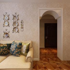 美式 温馨 时尚 三居 80后 小资 客厅图片来自武汉一号家居网装修在凯德广场美式风格实景图案例的分享
