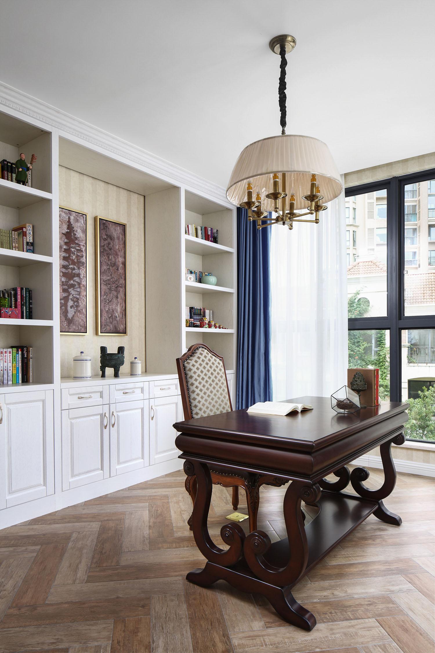 简约 别墅 白领 旧房改造 80后 收纳 书房图片来自周晓安在晓安设计|转身之后的分享