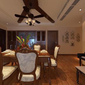 美式 温馨 时尚 三居 80后 小资 餐厅图片来自武汉一号家居网装修在都是经典美式风格实景图案例的分享