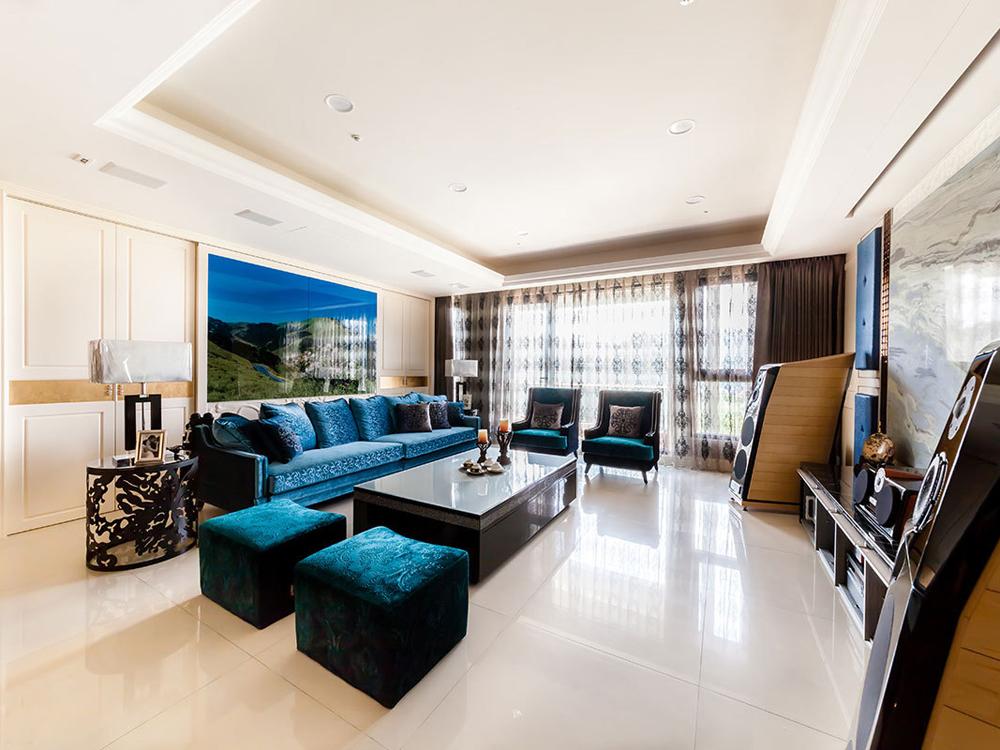新古典 小清新 四居 客厅图片来自tjsczs88在清新海蓝新古典的分享