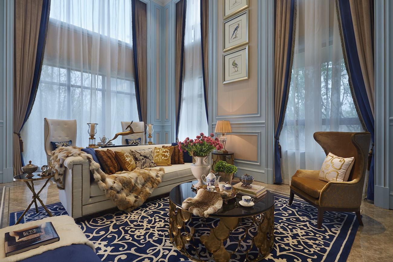 法式风格 设计师杨洋 别墅装修 长海御墅 客厅图片来自别墅设计师杨洋在法式摩登之长海御墅装修设计案例的分享