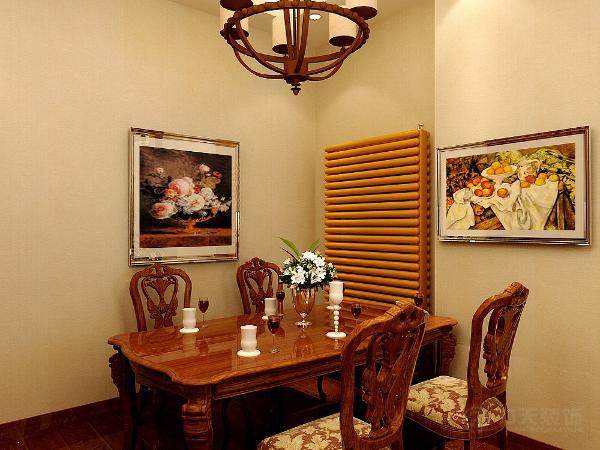 厨房的设计业先得相对的古典古朴的美式风格,白色带花纹的铝扣板吊灯,墙面则采用古色调的壁砖进行粘贴,橱柜的选择上则采用木质的橱柜进行装饰。