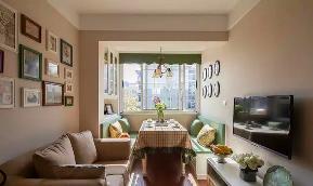 美式 小清新 二居 客厅 六里屯 客厅图片来自高度国际装饰宋增会在六里屯小区80平美式小清新的分享