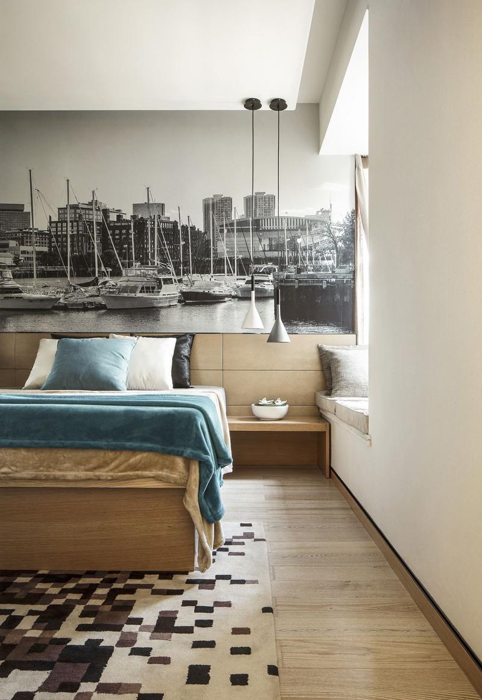 简约 公寓 收纳 卧室图片来自张勇高级室内设计师在泛海国际时尚简约风格效果展示的分享