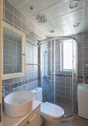 美式 小清新 二居 客厅 六里屯 卫生间图片来自高度国际装饰宋增会在六里屯小区80平美式小清新的分享