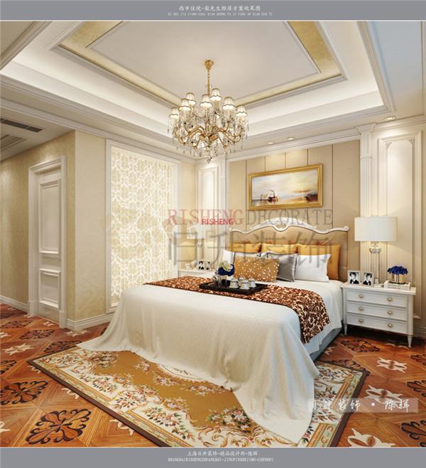 欧式 时尚 大气 日升装饰 西安公司 卧室图片来自日升装饰公司在西市佳境218平米简欧设计的分享