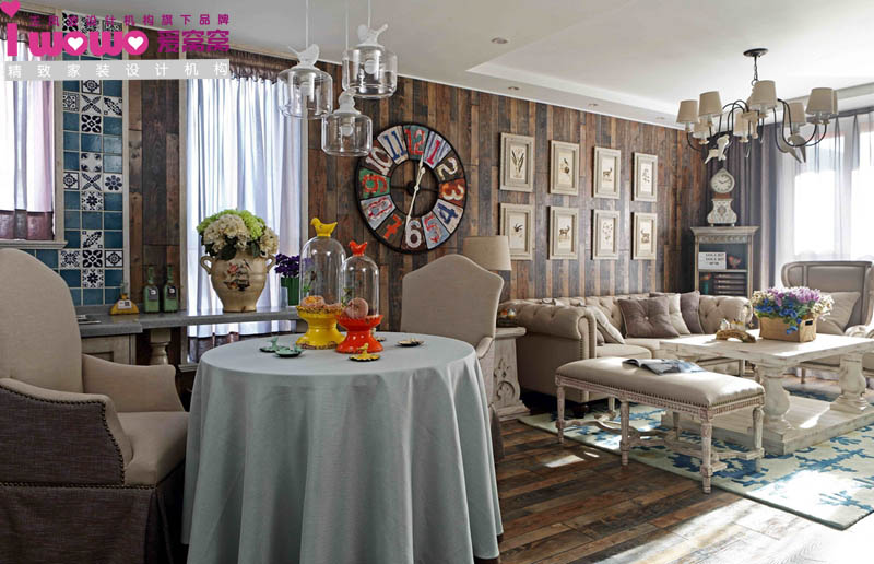 法式乡村,图片来自爱窝窝精致家装设计在浓情马卡龙的分享