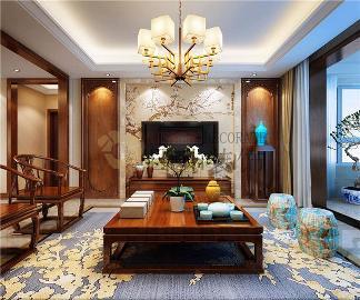 香榭兰庭133平米新中式风格设计