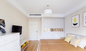 简约 宜家 三居 小资 卧室图片来自家装大管家在合理布局 93平清新宜家简约空间的分享