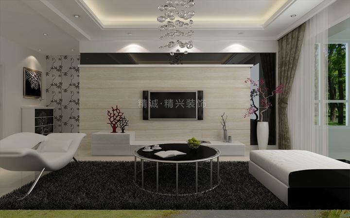 简约 二居 旧房改造 80后 客厅图片来自北京精诚兴业装饰公司在简单大气 现代风格装修的分享