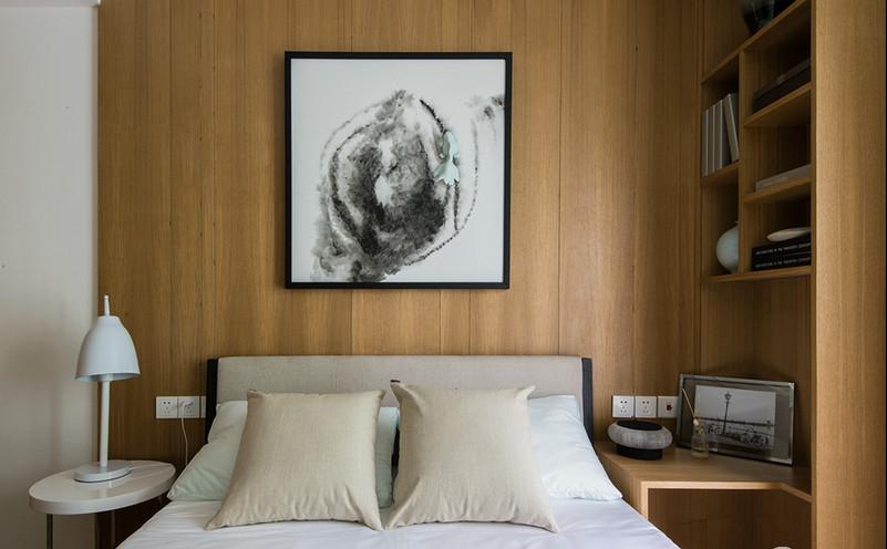 简约 80后 小资 卧室图片来自苹果装饰公司在灰简木宅 新乐雅漾的分享