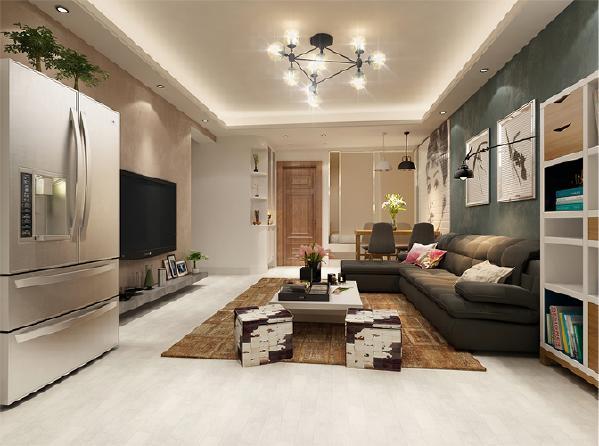 以色彩搭配和造型的简洁,在了解主人需求爱好情况下,将空间、人及物进行合理精致的组合,用最洗练的笔触,描绘出最丰富动人的空间效果。客厅以白色为主基调,将沙发、背景与灯光巧妙搭配,营造轻松愉悦的氛围。