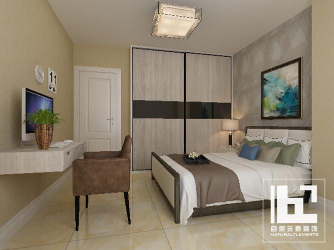 简约 旧房改造 80后 小资 收纳 三居 卧室图片来自深圳自然元素装饰在金泰花园108㎡二次房改造案例的分享