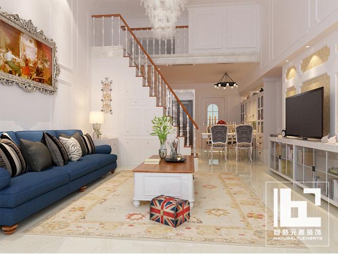 美式 现代 简约 白领 收纳 旧房改造 小资 客厅图片来自深圳自然元素装饰在宝安区雅然居复式设计方案的分享