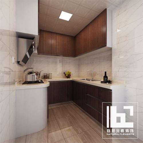 简约 旧房改造 80后 小资 收纳 三居 厨房图片来自深圳自然元素装饰在金泰花园108㎡二次房改造案例的分享