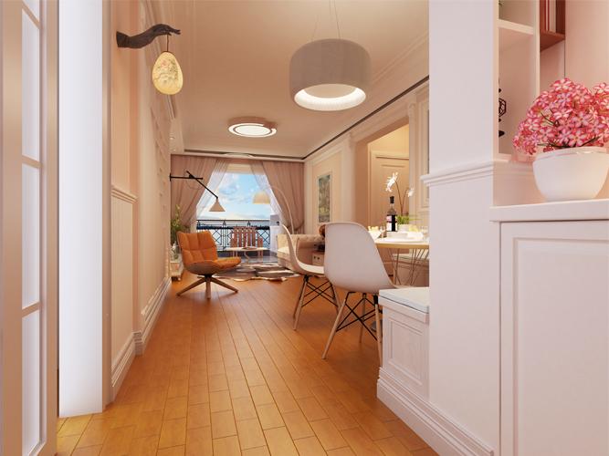 简约 二居 旧房改造 现代 客厅图片来自深圳自然元素装饰在深圳市-南山区-华晖云门设计方案的分享
