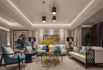 紫辰院精装房新中式软装设计案例