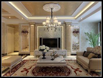 瑞城150平米三室两厅新古典风格