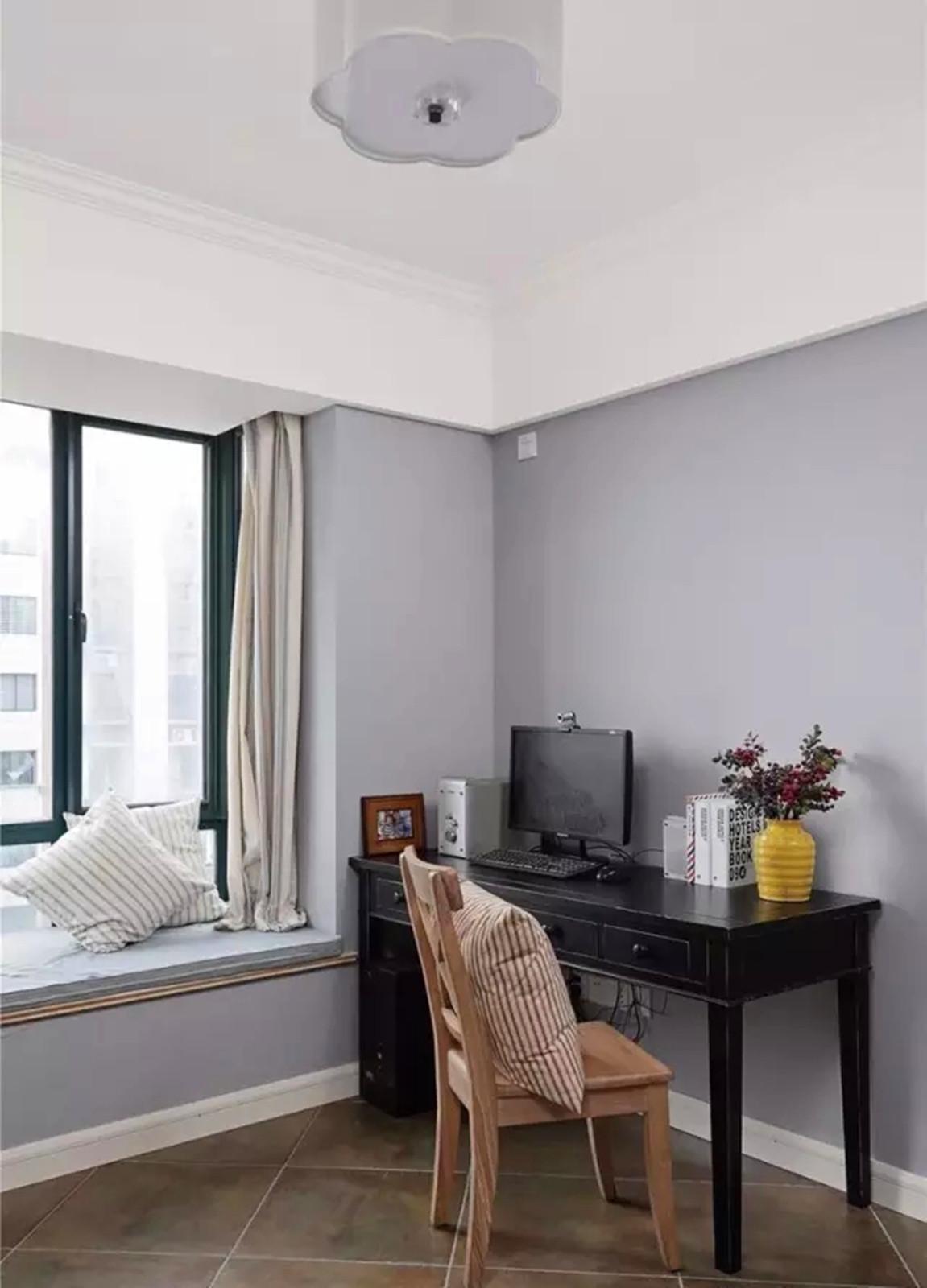 美式 三居 轻盈 舒适 书房图片来自高度国际装饰宋增会在碧桂园118平米美式设计的分享