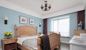 美式 三居 轻盈 舒适 卧室图片来自高度国际装饰宋增会在碧桂园118平米美式设计的分享