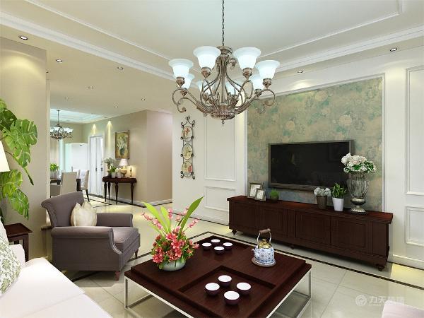 这次风格的设计整体色调简洁大方,给人大气沉稳,又不失温暖舒适的感觉,客厅与餐厅是整个在一个空间的格局。