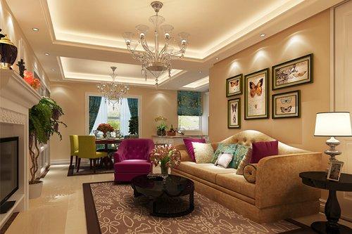 客厅图片来自业之峰装饰旗舰店在国风美唐法式浪漫的分享
