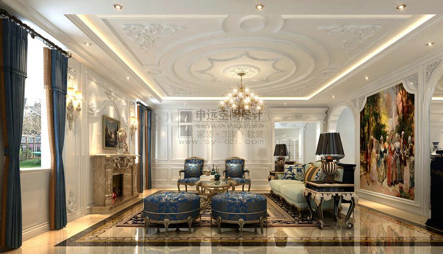 中金海棠湾 申远设计 别墅 法式 浪漫 欧式 客厅图片来自用户5616949510在中金海棠湾  法式典雅的分享
