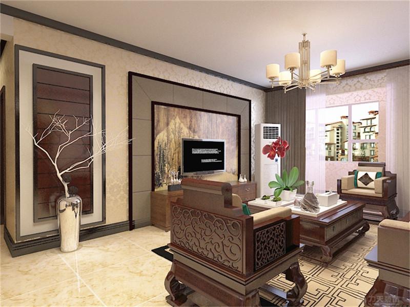 客厅图片来自阳光力天装饰在新中式风格 玺岳  138㎡的分享