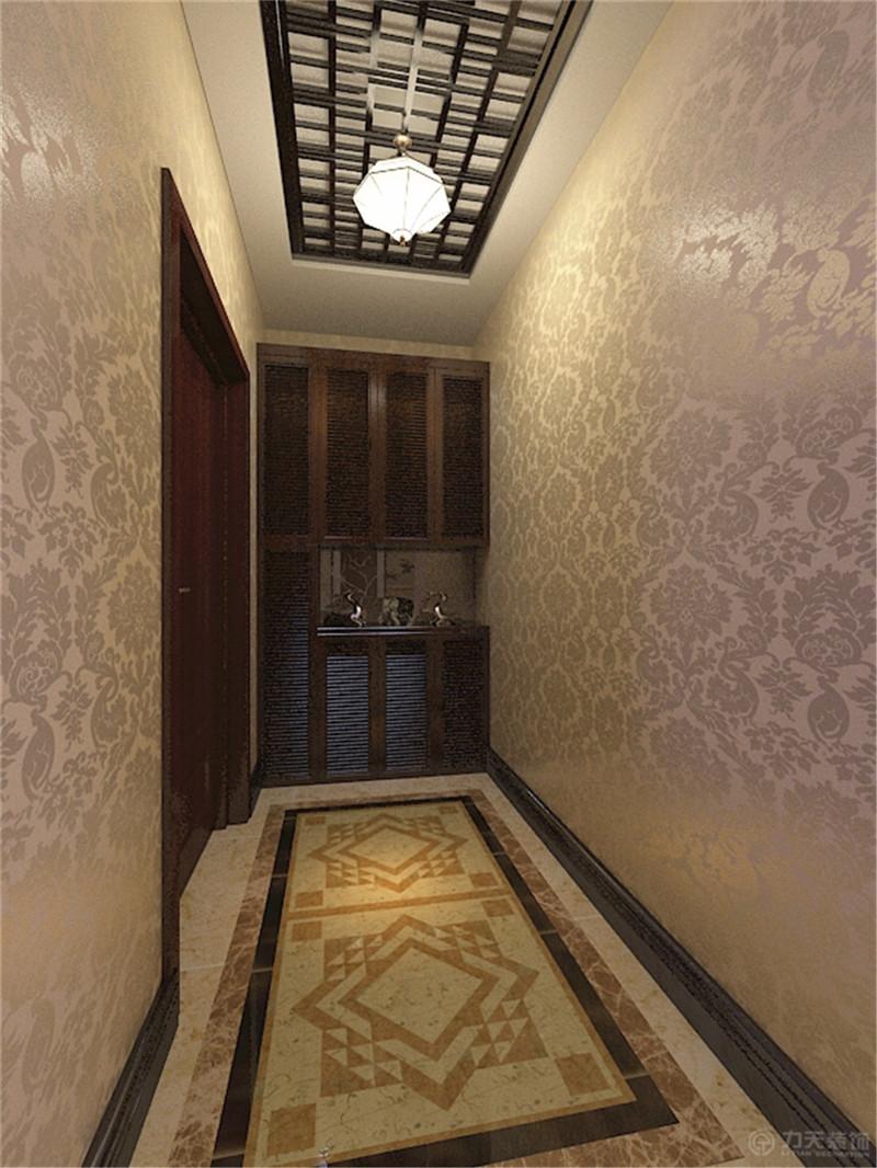 玄关图片来自阳光力天装饰在新中式风格 玺岳  138㎡的分享