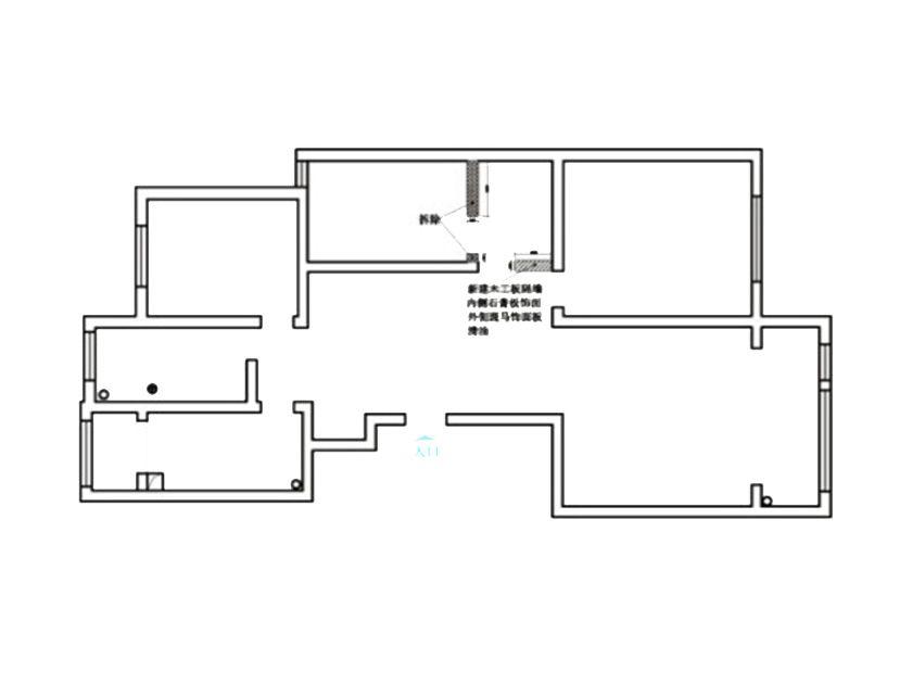 简约 二居 白领 旧房改造 收纳 80后 小资 户型图图片来自孙进进在两居90平米现代简约--爵士乐章的分享