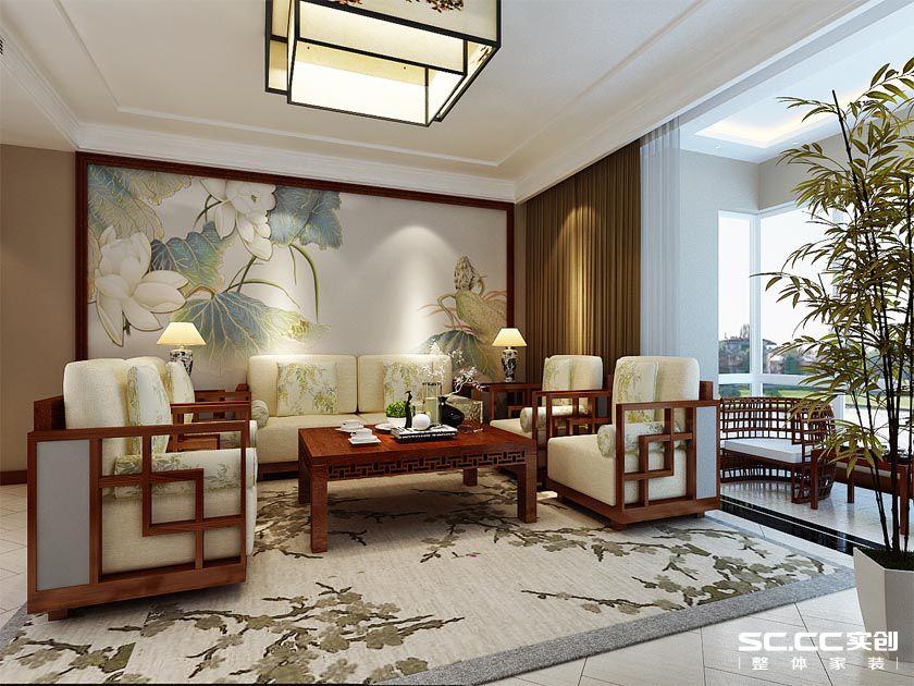 三居 中式 晓港名城 实创 客厅图片来自快乐彩在晓港名城175平中式装修风格的分享