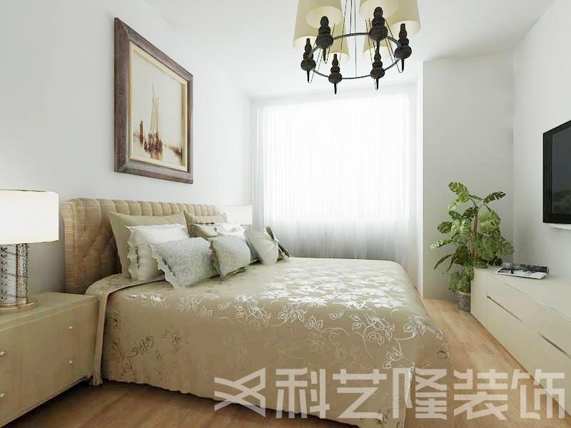 卧室图片来自天津科艺隆装饰在国耀上河城—现代简约—88㎡的分享