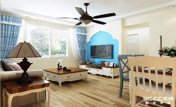 宏达路老房改造74平地中海风格