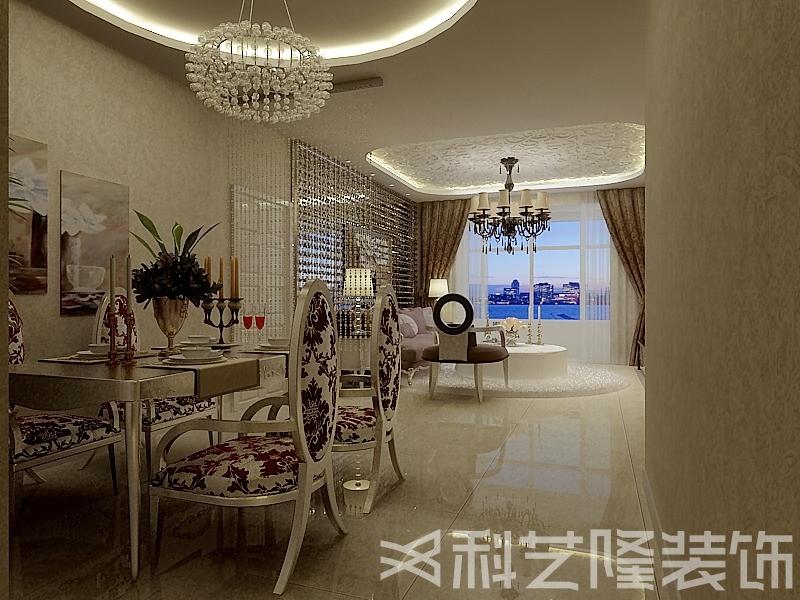 餐厅图片来自天津科艺隆装饰在广德园—后现代混搭风格—124㎡的分享